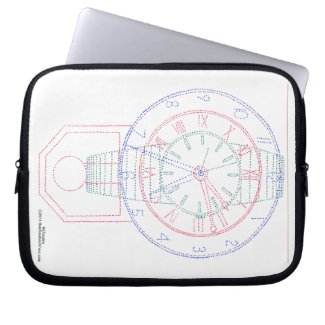 Multiclock laptop sleeve from HamSandwichTees.com