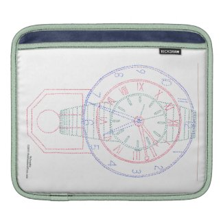 Multiclock MacBook Air Sleeve rickshawsleeve