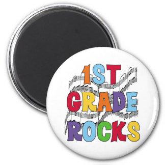 Multicolor 1st Grade Rocks 2 Inch Round Magnet