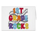 Multicolor 1st Grade Rocks Card