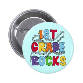 Multicolor 1st Grade Rocks Tshirts and Gifts 2 Inch Round Button