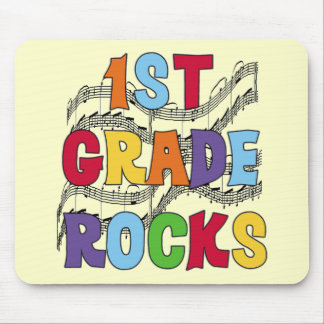 Multicolor 1st Grade Rocks Tshirts and Gifts Mouse Pad