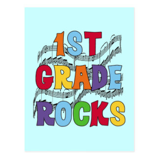 Multicolor 1st Grade Rocks Tshirts and Gifts Postcard
