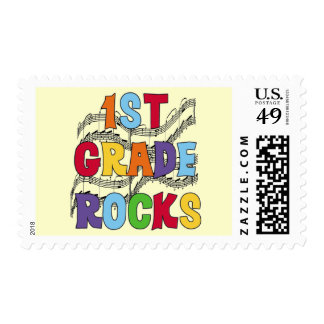 Multicolor 1st Grade Rocks Tshirts and Gifts Stamp