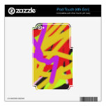 multicolor 2638 abstract art iPod touch 4G decals