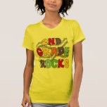 Multicolor 2nd Grade Rocks Tshirts and Gifts