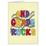 Multicolor 2nd Grade Rocks Tshirts and Gifts Greeting Card