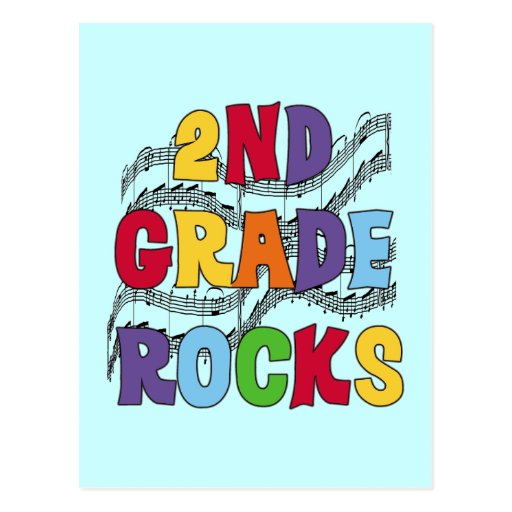 Multicolor 2nd Grade Rocks Tshirts and Gifts Postcard
