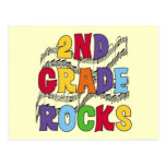Multicolor 2nd Grade Rocks Tshirts and Gifts Post Cards