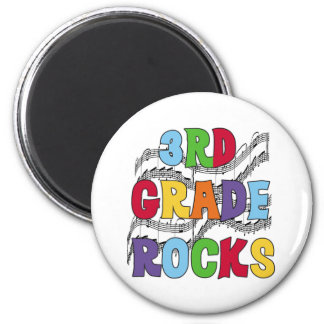 Multicolor 3rd Grade Rocks 2 Inch Round Magnet