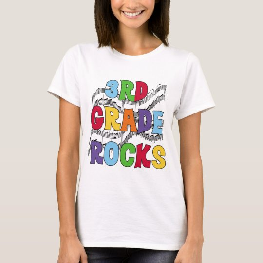 Multicolor 3rd Grade Rocks Tshirts and Gifts