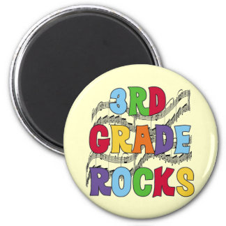Multicolor 3rd Grade Rocks Tshirts and Gifts 2 Inch Round Magnet