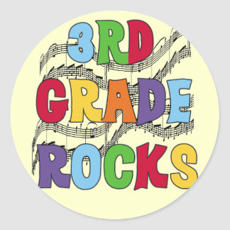 Multicolor 3rd Grade Rocks Tshirts and Gifts Classic Round Sticker