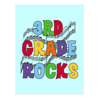 Multicolor 3rd Grade Rocks Tshirts and Gifts Postcard