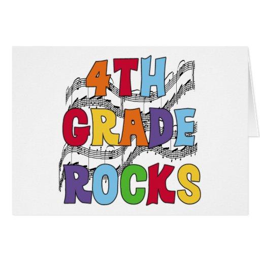 Multicolor 4th Grade Rocks Greeting Card