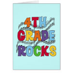Multicolor 4th Grade Rocks Tshirts and Gifts Greeting Card