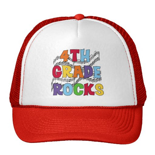 Multicolor 4th Grade Rocks Tshirts and Gifts Hats