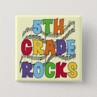 Multicolor 5th Grade Rocks T shirts and Gifts Button