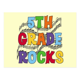 Multicolor 5th Grade Rocks T shirts and Gifts Postcard