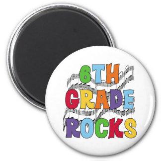 Multicolor 6th Grade Rocks 2 Inch Round Magnet