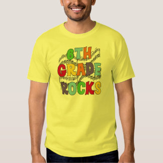 Multicolor 6th Grade Rocks Tshirts and Gifts