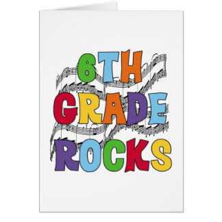 Multicolor 6th Grade Rocks Tshirts and Gifts Greeting Card