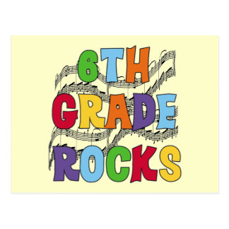 Multicolor 6th Grade Rocks Tshirts and Gifts Postcard