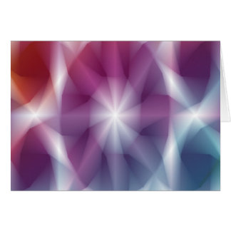 Multicolor Abstract Art Card