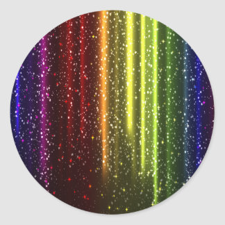 Multicolor Abstract Art Classic Round Sticker