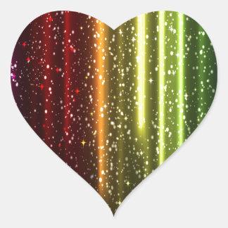 Multicolor Abstract Art Heart Sticker