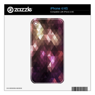 Multicolor Abstract Art Skin For iPhone 4