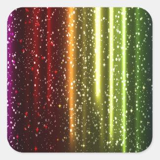 Multicolor Abstract Art Square Sticker