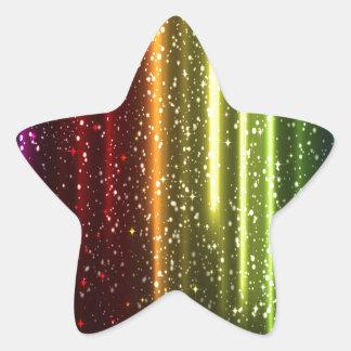 Multicolor Abstract Art Star Sticker