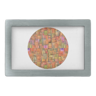 Multicolor Abstract Background. Colorful Pattern Belt Buckle