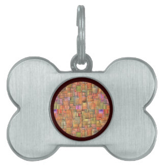 Multicolor Abstract Background. Colorful Pattern Pet Name Tags