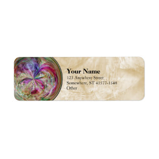 Multicolor Abstract Bubble Mandala Label