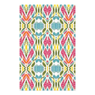 Multicolor Abstract Design. Aztec Digital Art Customized Stationery