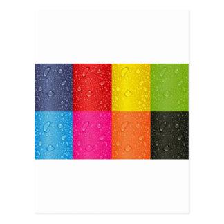 Multicolor abstract Design Postcard