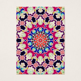 Multicolor Abstract Kaleidoscope Mandala Business Card