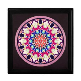 Multicolor Abstract Kaleidoscope Mandala Jewelry Box