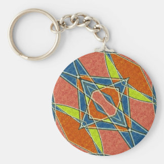 Multicolor Abstract Keychain