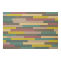 Multicolor Abstract Pattern Wood Print