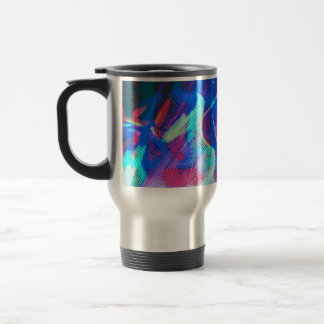 Multicolor Abstract Photo Travel Mug