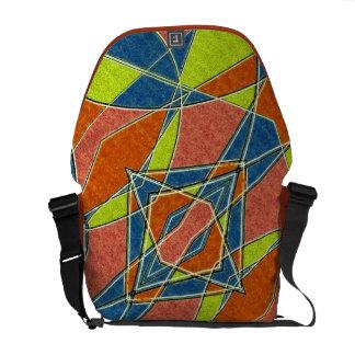 Multicolor Abstract Rickshaw Messenger Bag
