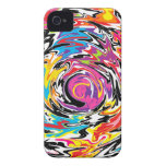 Multicolor Abstract Swirl Case-Mate iPhone 4 Cases