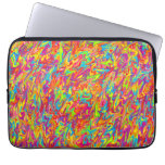 Multicolor Abstract Swirl Laptop Sleeve