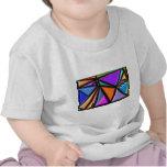 Multicolor abstracto camisetas