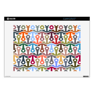 "Multicolor Anchors 15"" Laptop Decal"