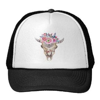 Multicolor Animal Skull Trucker Hat