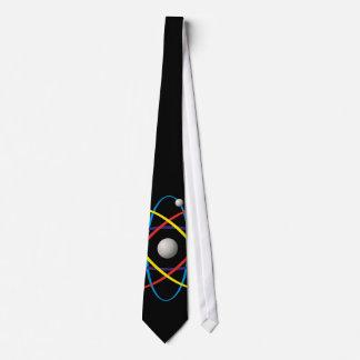 Multicolor Atom Symbol | Nerd Gift Neck Tie